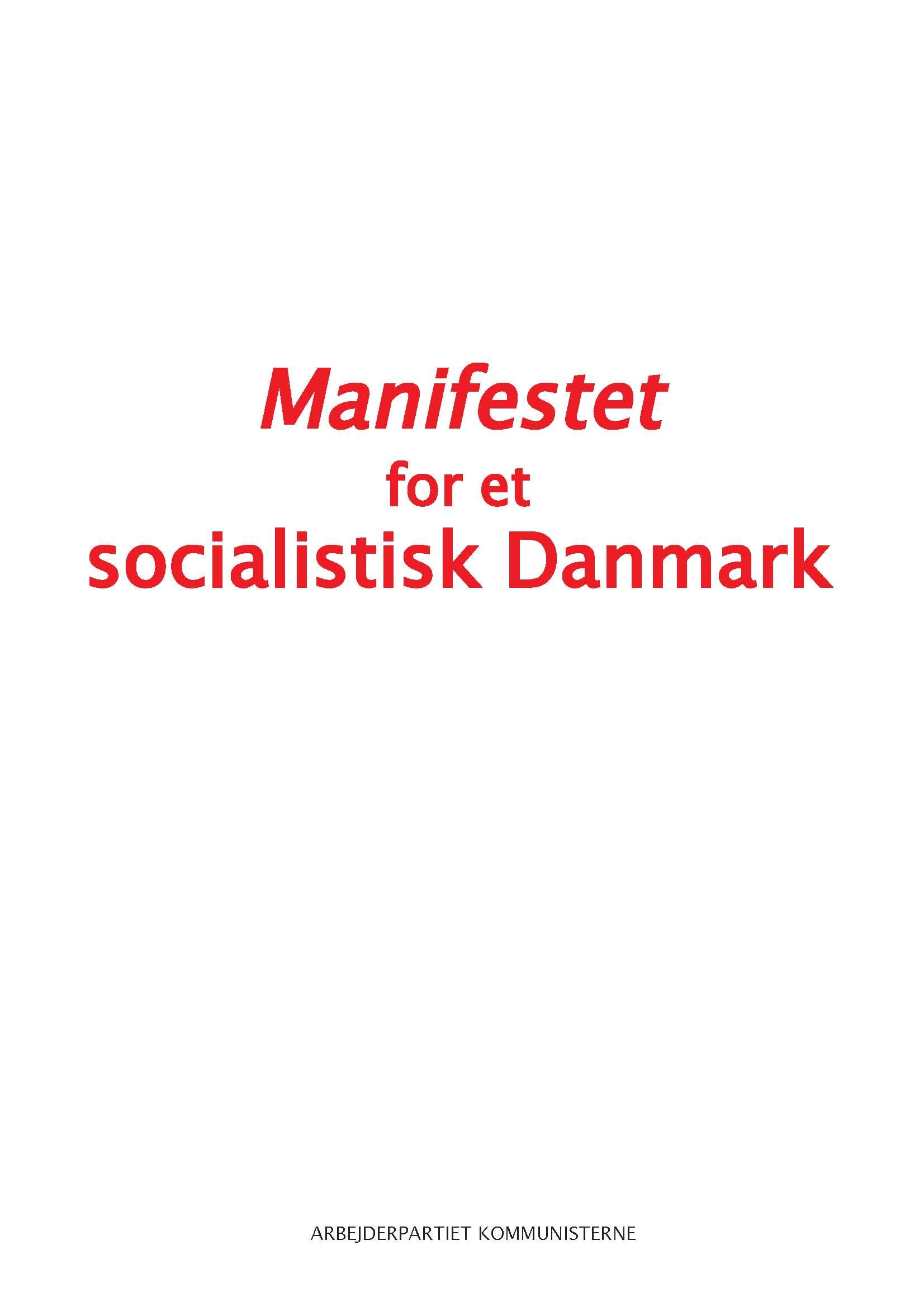 Manifestet For Et Socialistisk Danmark